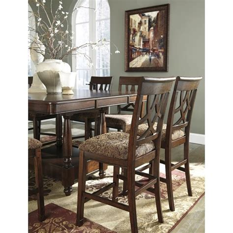 ashley furniture dinette sets dining tables bar height ashley leahlyn 9 piece counter height extendable dining