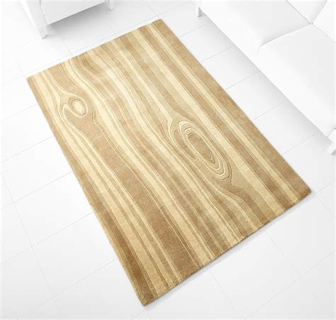 beige wood grain pattern large floor rug cyandesign
