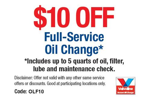 valvoline oil change