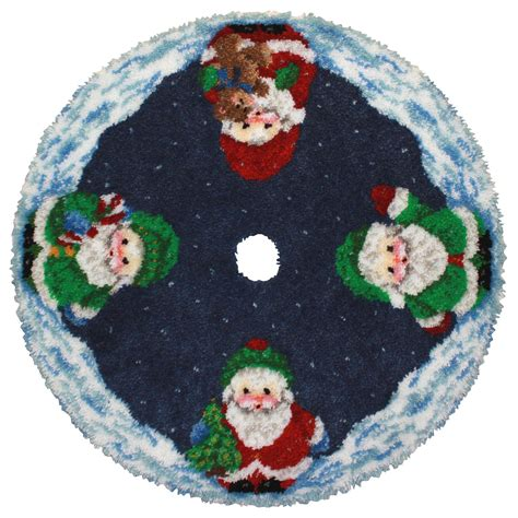 latch hook christmas tree skirt kits roly poly santa latch hook tree skirt kit items santa and tree
