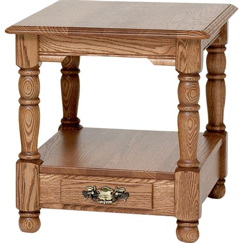 solid oak end tables country trend solid oak end table with drawer 21 quot x 25