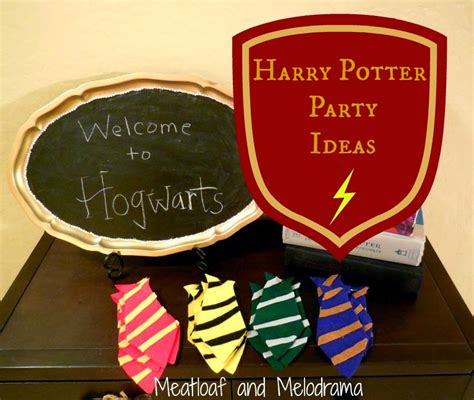 party themes beginning with z diy harry potter party meatloaf and melodrama