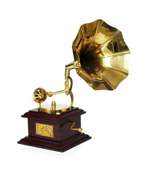 Brass Home Decor Design Hut Home Decor Brass Showpiece Gramophone