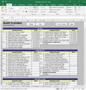 Cub Scout Treasurer Spreadsheet Alfa Img Showing Gt Boy Scout Advancement Sheets
