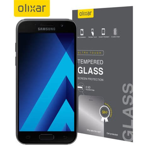 Tempered Glass Samsung Galaxy A5 2017 A 5a520 Warna Layar Cover Olixar Samsung Galaxy A5 2017 Tempered Glass Screen Protector