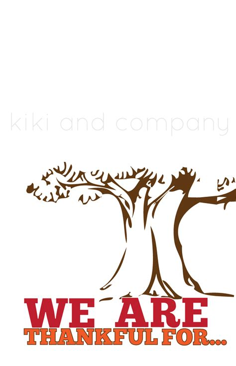 thankgiving tree free printable company