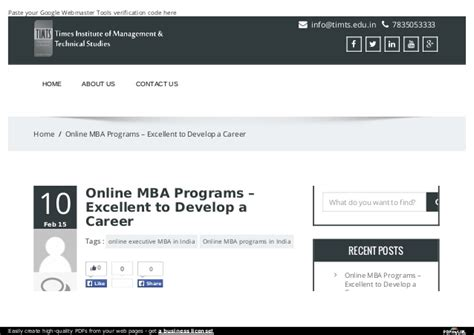 Mba Programs A by Mba Programs Excellent To Develop A Career