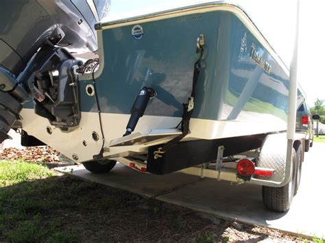 boat transom location on trailer advice for configuring transom trailer straps with trim