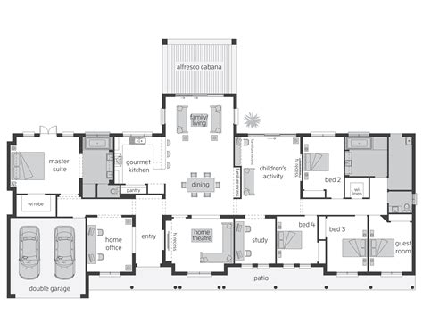Queensland Home Design Plans Bronte Act Floorplans Mcdonald Jones Homes