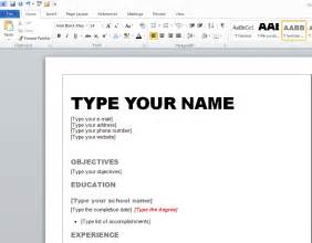 how to make your own resume template learn how to make resume in microsoft word 2010