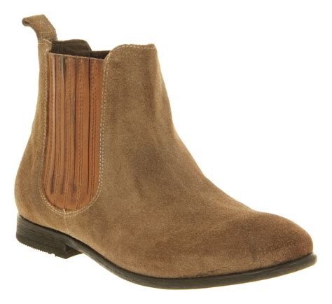 hudson wexford chelsea boot beige suede in beige lyst