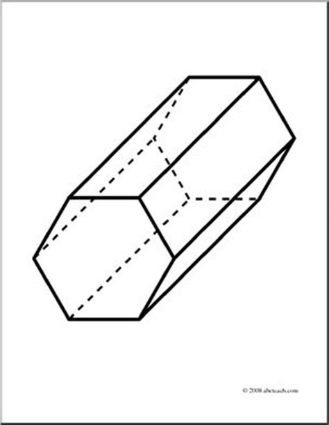 How To Make A Hexagonal Prism Out Of Paper - clip 3d solids hexagonal prism coloring page i