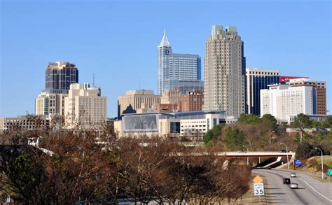 the southern gateway s iconic view of downtown raleigh