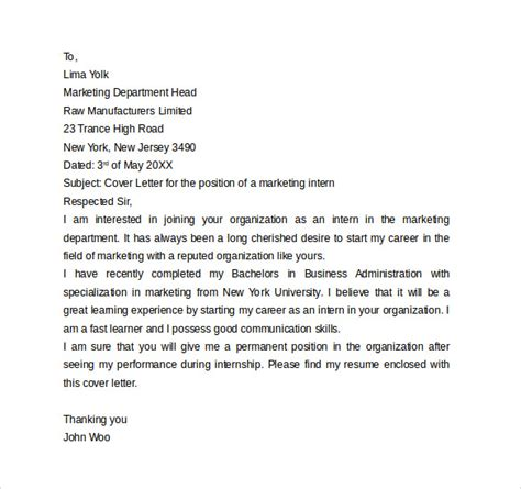 best solutions of lovely cover letter for an internship with no