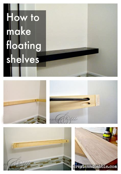 how to make floating shelves create and babble