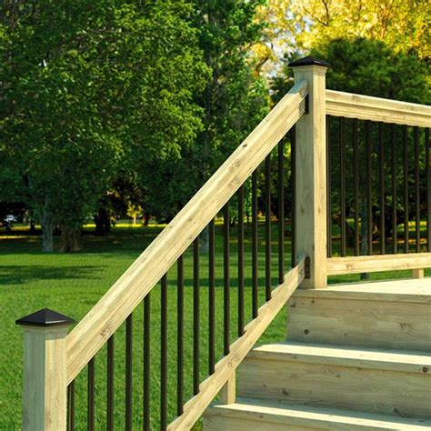 pressure treated wood outdoor stair railing kit yard home