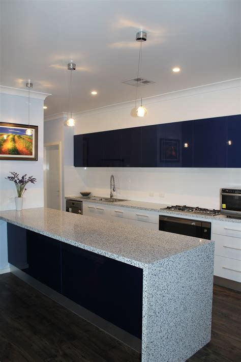laminex kitchen ideas benchtops trend surfaces quot white blue quot panels formica quot snowdrift gloss quot feature panels