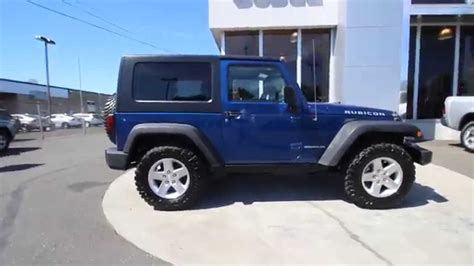 navy blue jeep wrangler 2 door 2009 jeep wrangler rubicon surf blue pearlcoat black