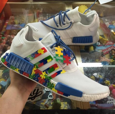 custom kicks  progress autism awareness adidas shoes