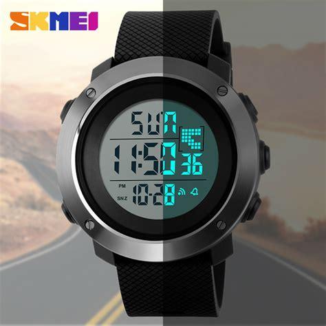 Jam Tangan Pria Jam Digital skmei jam tangan digital pria dg1268 black