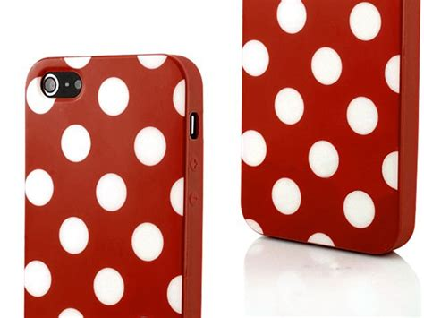 Softcase Iphone 5 Iphone 5s polka dot tpu soft hoesje voor iphone 5 5s