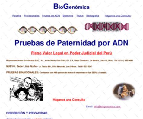 costo test dna ernestobustamante biogenomica prueba de paternidad