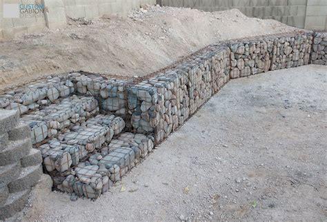 gabion backyard garden retaining wall with stairs gabion