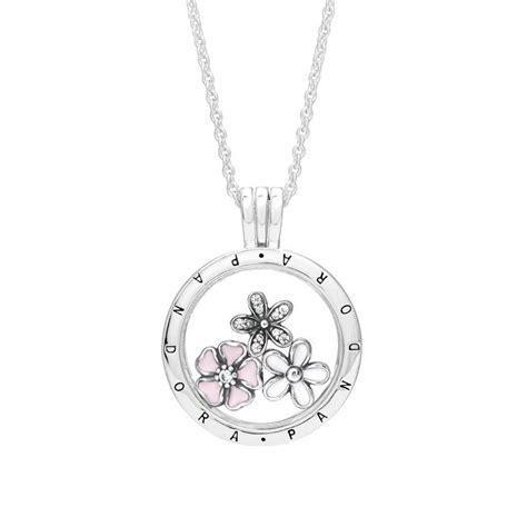 Pandora Enamel Charms 4petal Flower P 564 pandora poetic blooms petites locket necklace locket necklace greed jewellery and locket