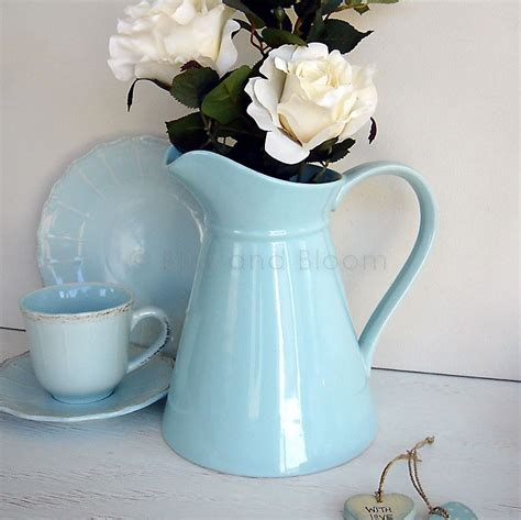 Duck Egg Blue Vase by Duck Egg Jug Pitcher Vase Bliss And Bloom Ltd