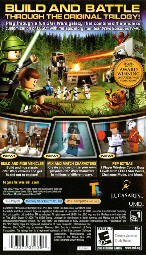 Umd Psp Lego Wars Ii 2 lego wars ii the original trilogy 2006 psp box cover mobygames