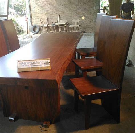 Set Meja Makan Trembesi set meja makan trembesi murah faza mebel furniture