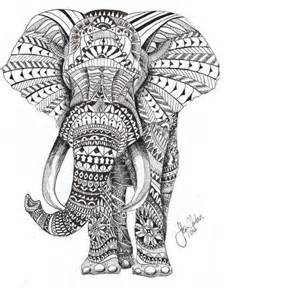 9 elephant tribal tattoo designs and pictures