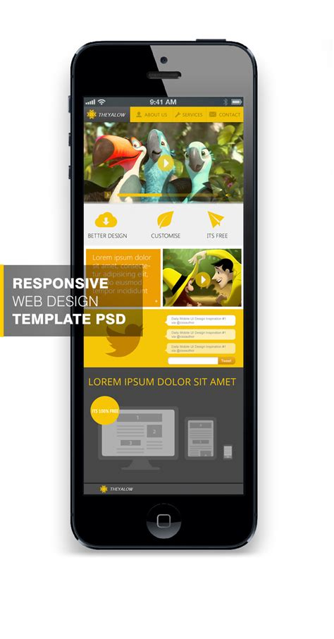 mobile design template psd free download 10 beautiful web design template psd for free download