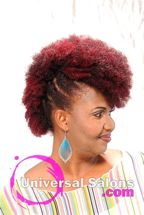 plumb colour hairstyles natural mohawk with plumb ombre color from kenya young