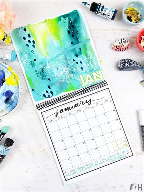 calendar design diy diy calendar design for january 2018 fox hazel
