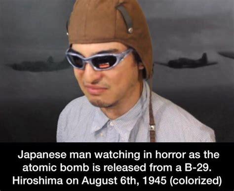 Asian Photographer Meme - 1945 colorized colorizedhistorymemes