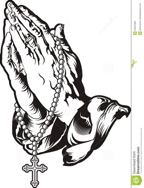 sketch book comprar praying with rosary stock vector image