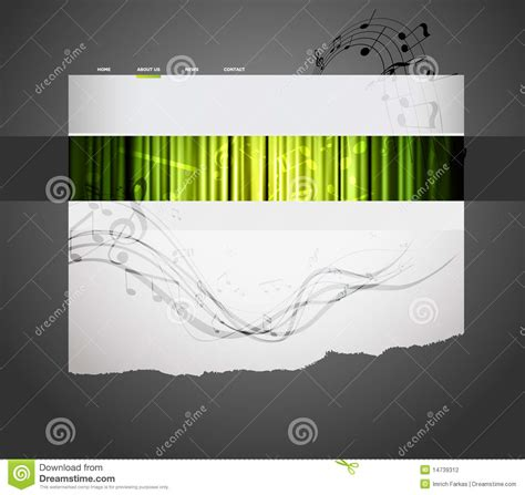 Musical Website Templates by Musical Website Template Stock Photography Image 14739312