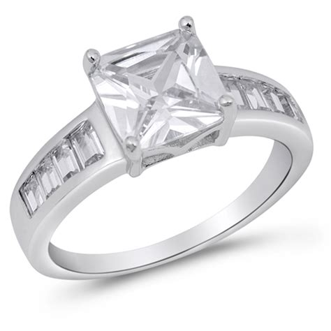 sterling silver s clear cz ring wholesale engagement