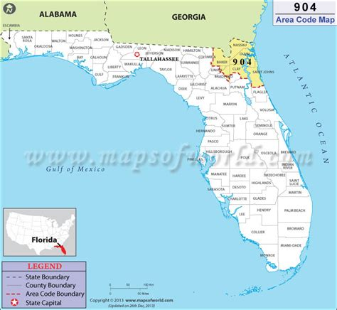 Area Code 904 Lookup 904 Area Code Map Where Is 904 Area Code In Florida