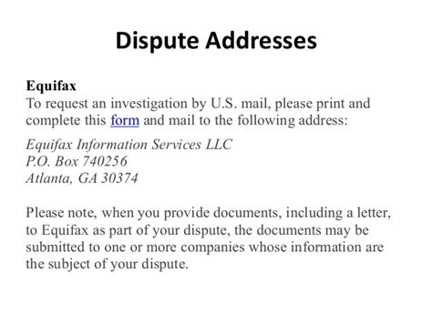 Address To Send Dispute Letter To Equifax West Point Fcra Presentation 10 29 15 Updated