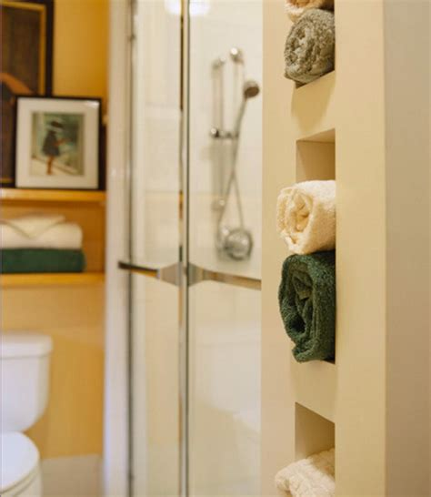 storage for towels in small bathroom how to store towels in the bathroom in compact manner