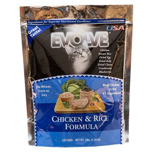 evolve food compare s abundance premium cat food to evolve chicken rice formula cat food