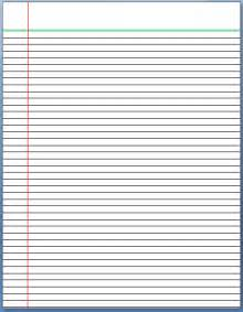 ruled paper word template lined paper template format template