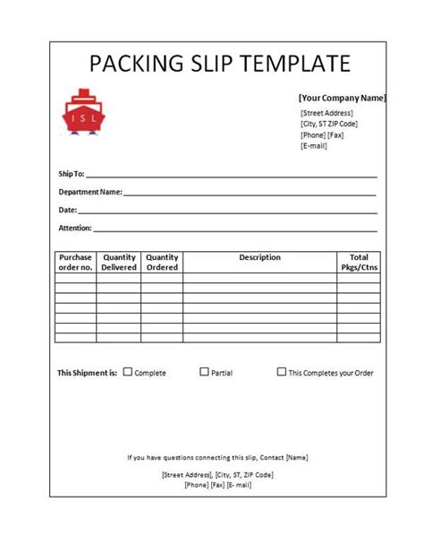 packing slip template word packing slip template cyberuse
