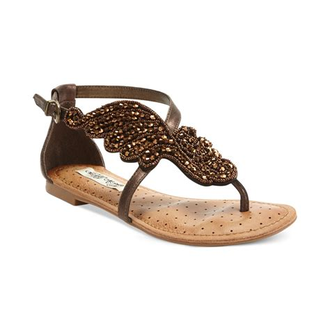 me sandals lyst monkey give me wings asymetrical flat