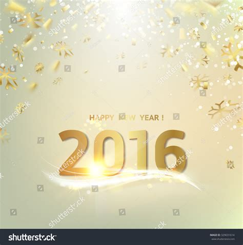 happy new year template card happy new year card gold template stock vector 329031614