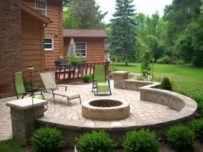 backyard pit traditional patio cleveland by