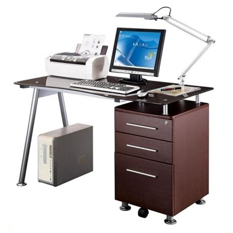 best computer desks scranton co tempered glass top computer desk in