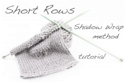 knitting terms wrap and turn tutorial rows using the shadow wrap method the